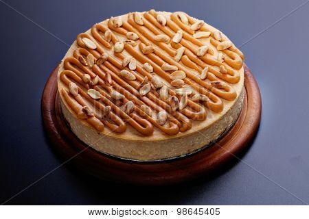 creamy cheesecake with peanuts - sweet food