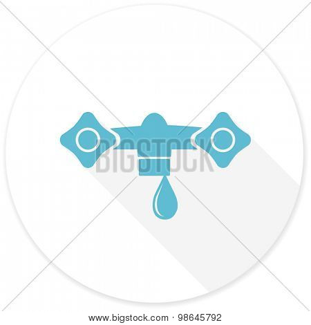 water flat design modern icon with long shadow for web and mobile app