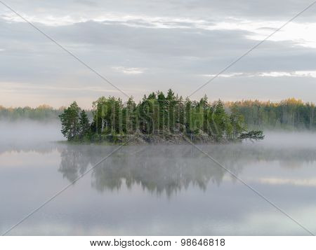 Island At The Forest Lake