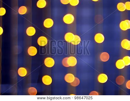 Abstract Image - Round, Yellow And Red Lights