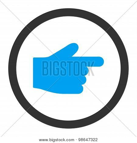 Index Finger flat blue and gray colors rounded raster icon