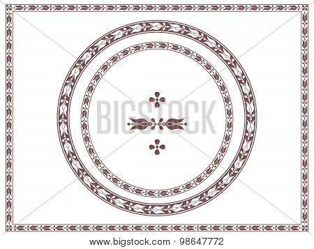 Ornamental frames and decorative element, vignette, divider, header. Different shapes.