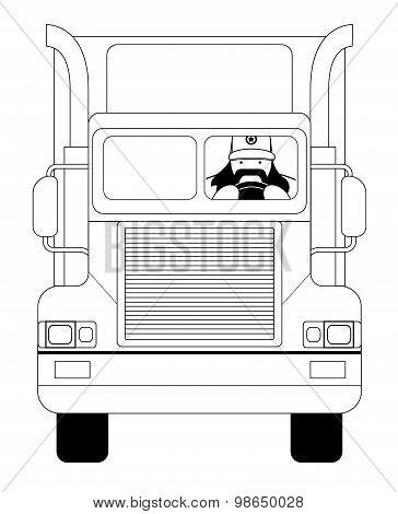 Cargo driver. Contour