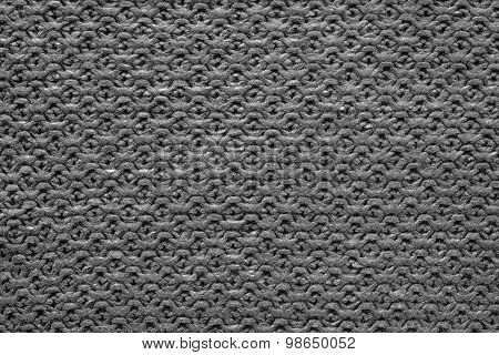Knitted Cellular Texture Of Black Color