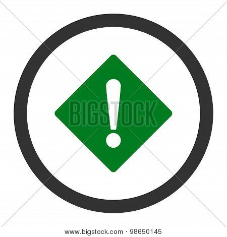 Error flat green and gray colors rounded raster icon