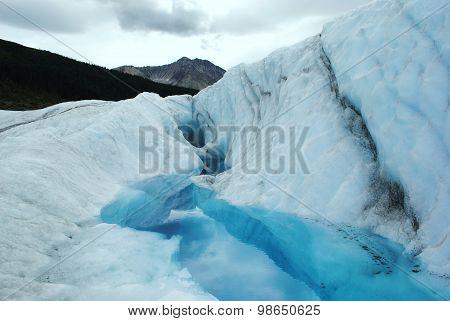 Glacial Pool Below The Mountain