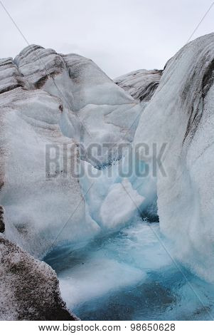 Glacial Pool and Ice