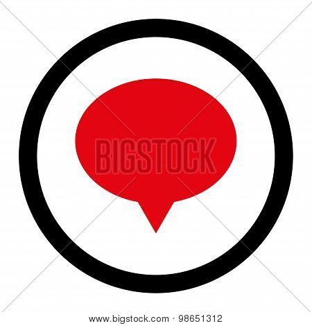 Banner flat intensive red and black colors rounded raster icon