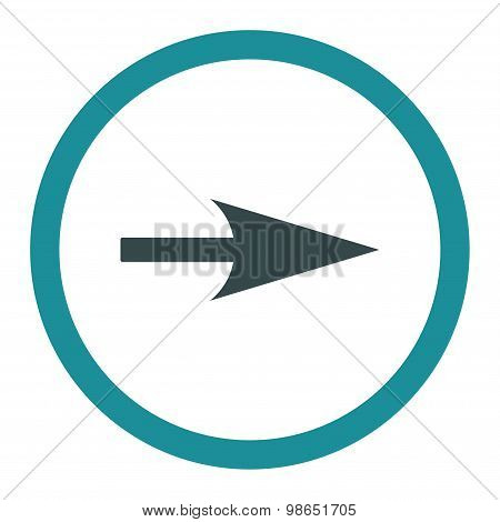 Arrow Axis X flat soft blue colors rounded raster icon