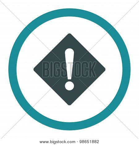 Error flat soft blue colors rounded raster icon
