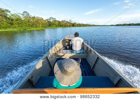 Tourist And Guide In Boat