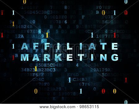 Finance concept: Affiliate Marketing on Digital background