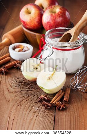 Baking Ingredients For Apple Pie