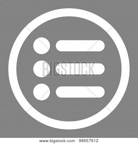 Items flat white color rounded raster icon
