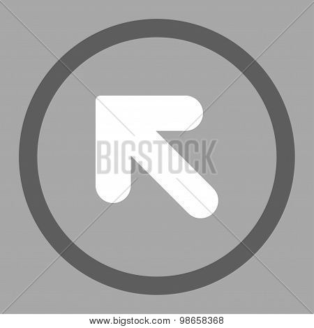 Arrow Up Left flat dark gray and white colors rounded raster icon
