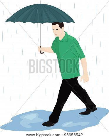 Man In The Rain