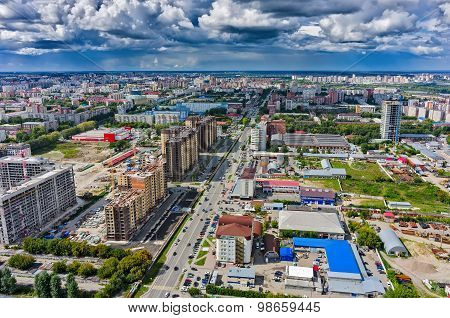 Construction of residential district in Tyumen