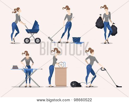 Illustrations Of Housework