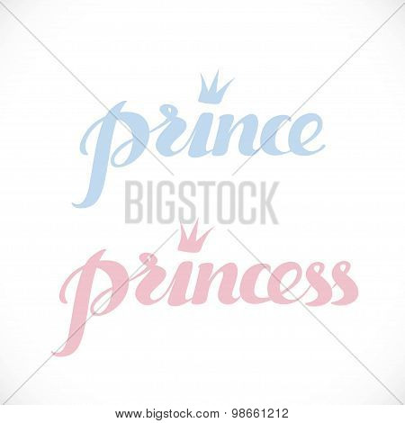 Prince And Princess Calligraphic Inscription For Invitation, Gre