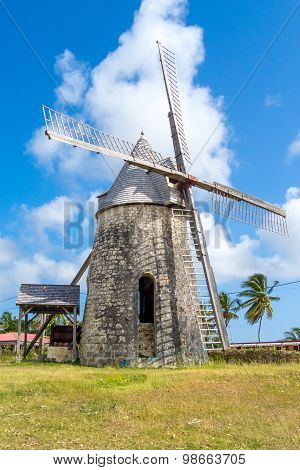 Ancient Windmill Of Bezard In Marie-galante, Guadeloupe