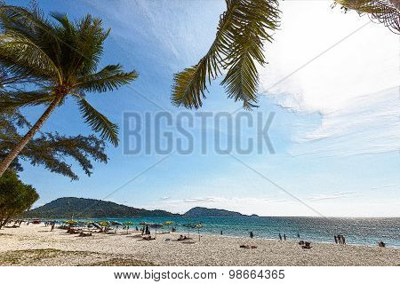 Texture Effect In Hat Patong Beach Photo