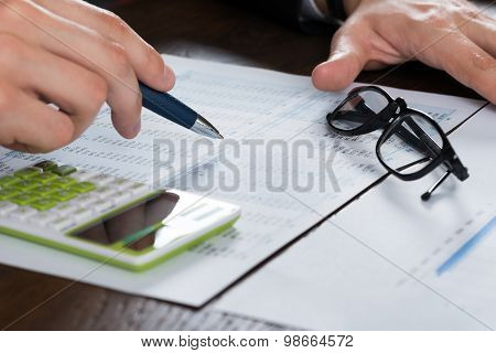 Person Hands Calculating Finance