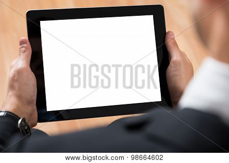 Businessperson Using Digital Tablet
