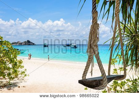 Swing On The Beach At Koh Miang, Thailand