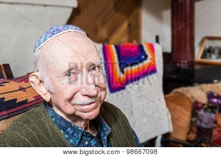 Elderly Gentleman With Yarmulke