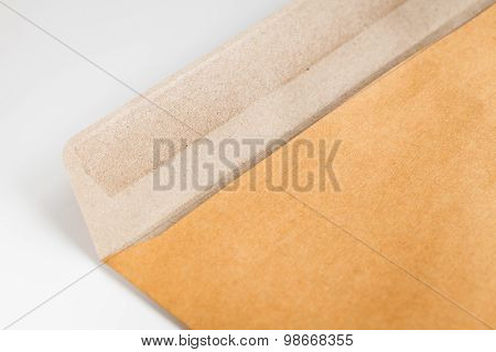 Open Brown Envelope On The Table