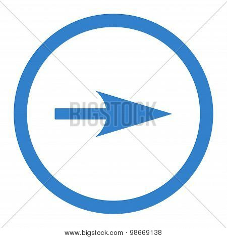 Arrow Axis X flat cobalt color rounded vector icon