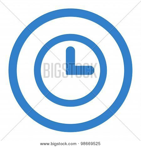 Clock flat cobalt color rounded vector icon