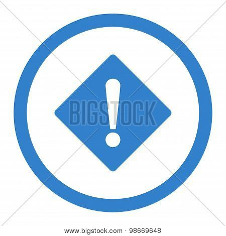 Error flat cobalt color rounded vector icon