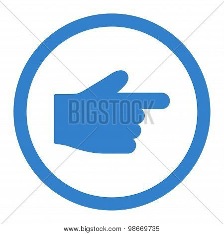 Index Finger flat cobalt color rounded vector icon