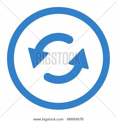 Refresh Ccw flat cobalt color rounded vector icon