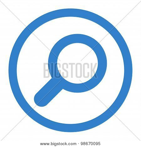 View flat cobalt color rounded vector icon