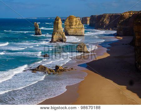 Twelve Apostles By Great Ocean Road