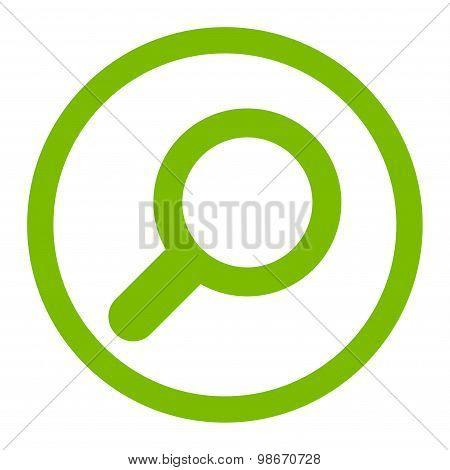 View flat eco green color rounded vector icon