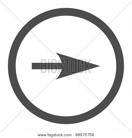 Arrow Axis X flat gray color rounded vector icon