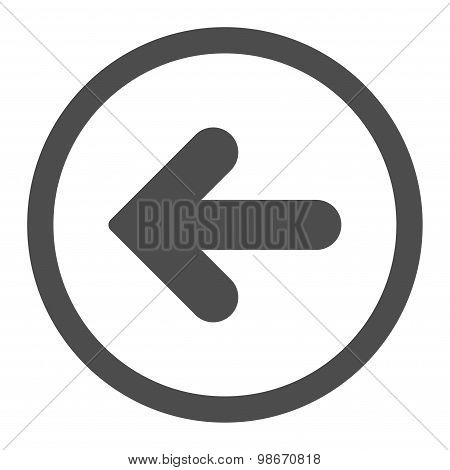 Arrow Left flat gray color rounded vector icon