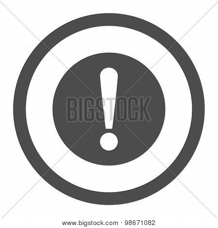 Problem flat gray color rounded vector icon