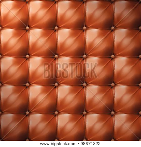 Vector Of Brown Upholstery Leather Pattern Background