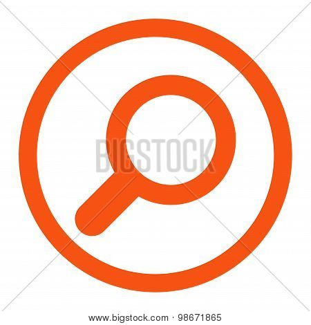 View flat orange color rounded vector icon