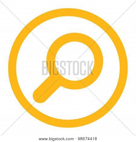 View flat yellow color rounded vector icon