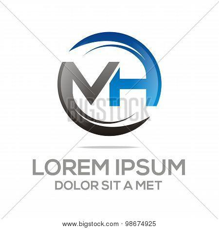 Logo letter ma alphabet vector