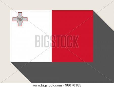 Malta in flat web design style.