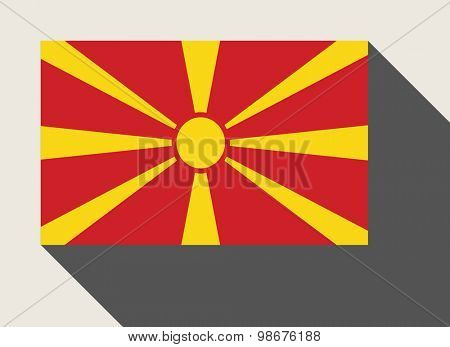 Macedonia flag in flat web design style.