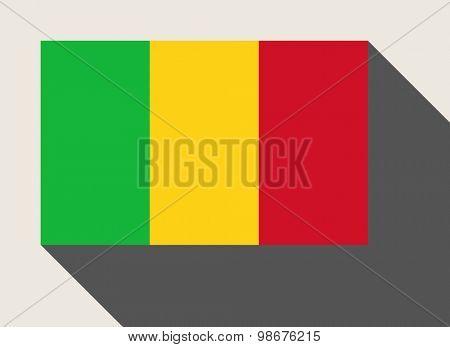 Mali flag in flat web design style.