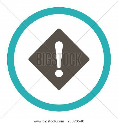 Error flat grey and cyan colors rounded vector icon