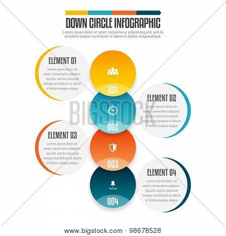 Down Circle Infographic